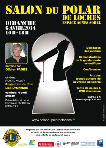 Affiche Salon du polar de Loches 2014